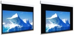 Ekran elektryczny Adeo Biformat BE z czarną ramką 275 cm