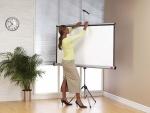 Ekran ręcznie rozwijany na trójnogu NOBO 175x132,5 cm (4:3)