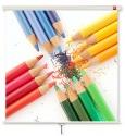 Ekran ręcznie rozwijany ścienny AVtek 175x175 cm (1:1)