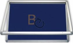 Gablota wewnętrzna 2x3 jednodrzwiowa model 1 90x60 cm - tekstylna