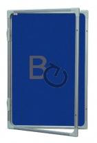 Gablota wewnętrzna 2x3 jednodrzwiowa model 2 60x90 cm - tekstylna