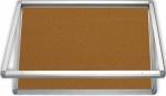 Gablota zewnętrzna 2x3 jednodrzwiowa model 1 6xA4 (75x70 cm) - korkowa