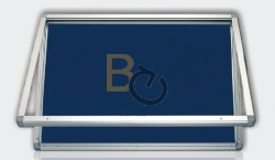 Gablota zewnętrzna 2x3 jednodrzwiowa model 1 6xA4 (75x70 cm) - tekstylna