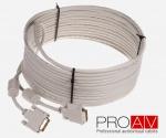Kabel ProAV Professional DVI-I (18+5) Digital Dual Link M/M HQ 10.0 m