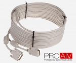 Kabel ProAV Professional DVI-I (24+5) Digital Dual Link M/M HQ 10.0 m