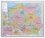 Mapa administracyjna Polski 2x3 w ramie aluminiowej magnetyczna