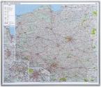 Mapa drogowa Polski 2x3 w ramie aluminiowej magnetyczna