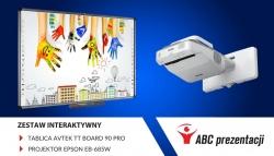 Nowy zestaw interaktywny dla szkół: tablica Avtek TT Board 90 Pro + projektor Epson EB-685W