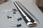Powierzchnia projekcyjna szybkiego montażu ADEO 155x66 cm (21:9)