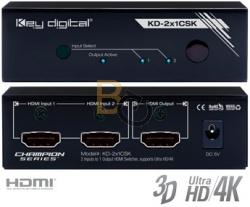 Przełącznik HDMI Key Digital KD-2x1CSK