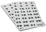 Szyldy samoprzylepne 2x3 do planera miesięcznego