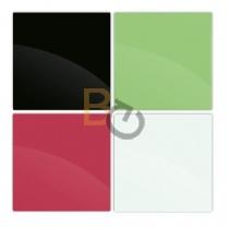Tablica szklana 2x3 45x45 cm - biała