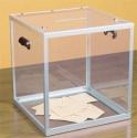 Urna wyborcza przezroczysta z pleksi - wysokość 32cm