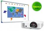 Zestaw interaktywny - Tablica DualBoard 1279 + projektor NEC M260XS + uchwyt ścienny