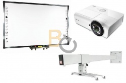 Zestaw interaktywny - Tablica QOMO QWB379BW + projektor Vivitek DX881ST + uchwyt ścienny