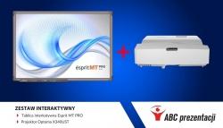 Zestaw interaktywny: tablica Esprit MT PRO + projektor Optoma X340UST