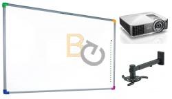 Zestaw interaktywny - tablica interaktywna Interwrite DualBoard 1289 + projektor Benq MW820ST + warianty PROMOCJA!