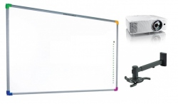 Zestaw interaktywny - tablica interaktywna Interwrite DualBoard 1289 + projektor Optoma W303ST + warianty PROMOCJA!