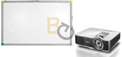 Zestaw interaktywny - tablica interaktywna Interwrite TouchBoard PLUS 1078 + projektor BenQ MX806ST + uchwyt ścienny
