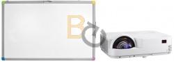 Zestaw interaktywny - tablica interaktywna Interwrite TouchBoard PLUS 1078 + projektor NEC M333XS + uchwyt ścienny