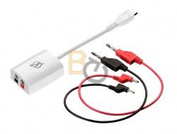 Zewnętrzny czujnik do pomiaru napięcia prądu (podłączany do gniazda uniwersalnego)
