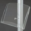 Półka akrylowa 2xA4 do display'a wolnostojącego