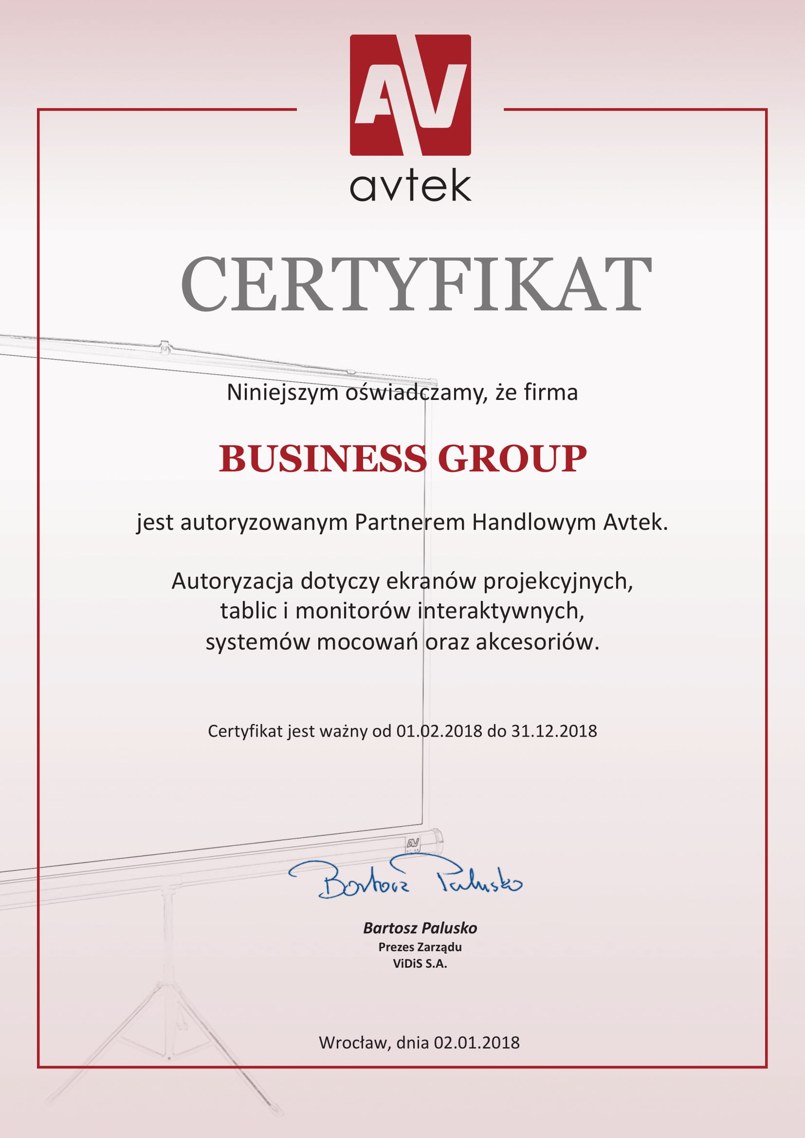 Certyfikat_AVTEK