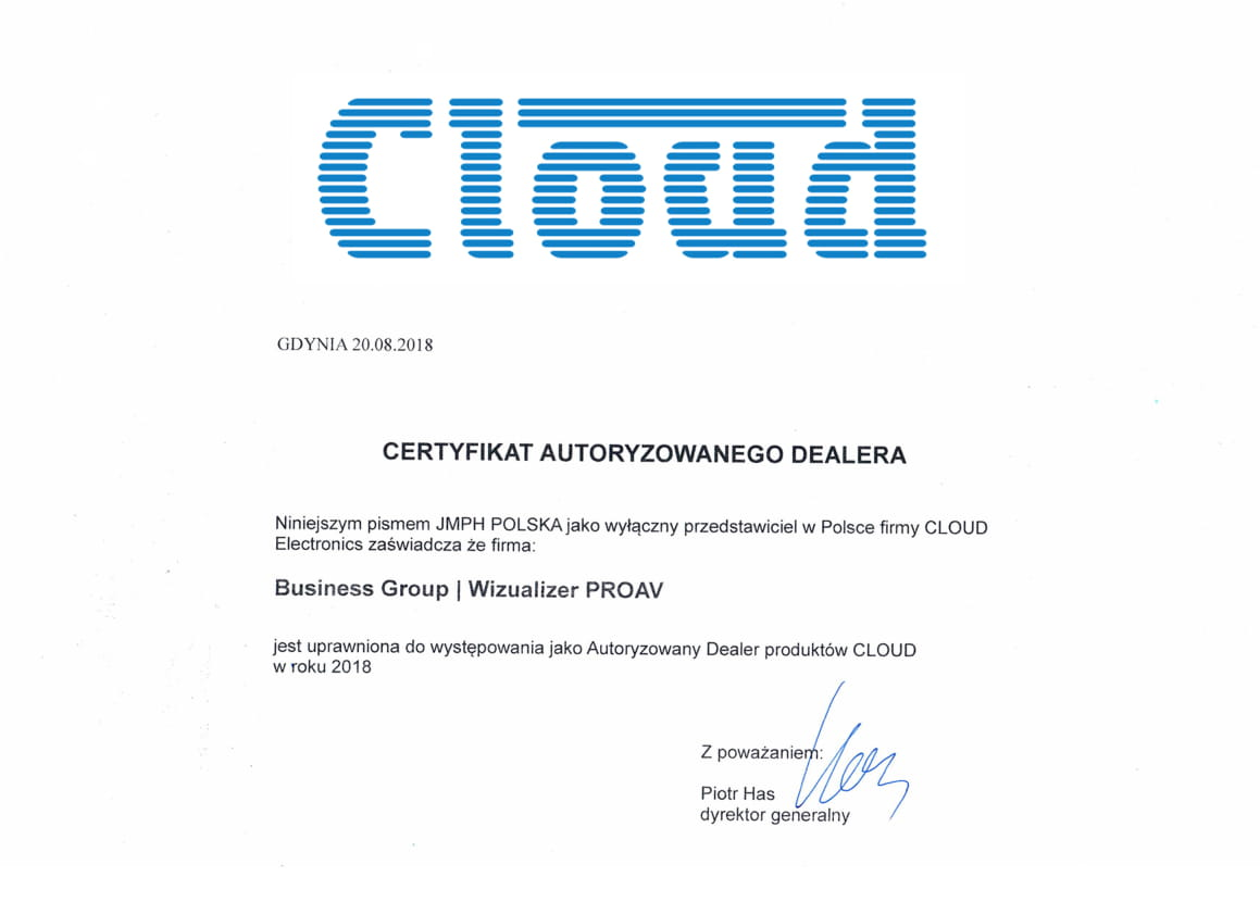 Certyfikat Cloud