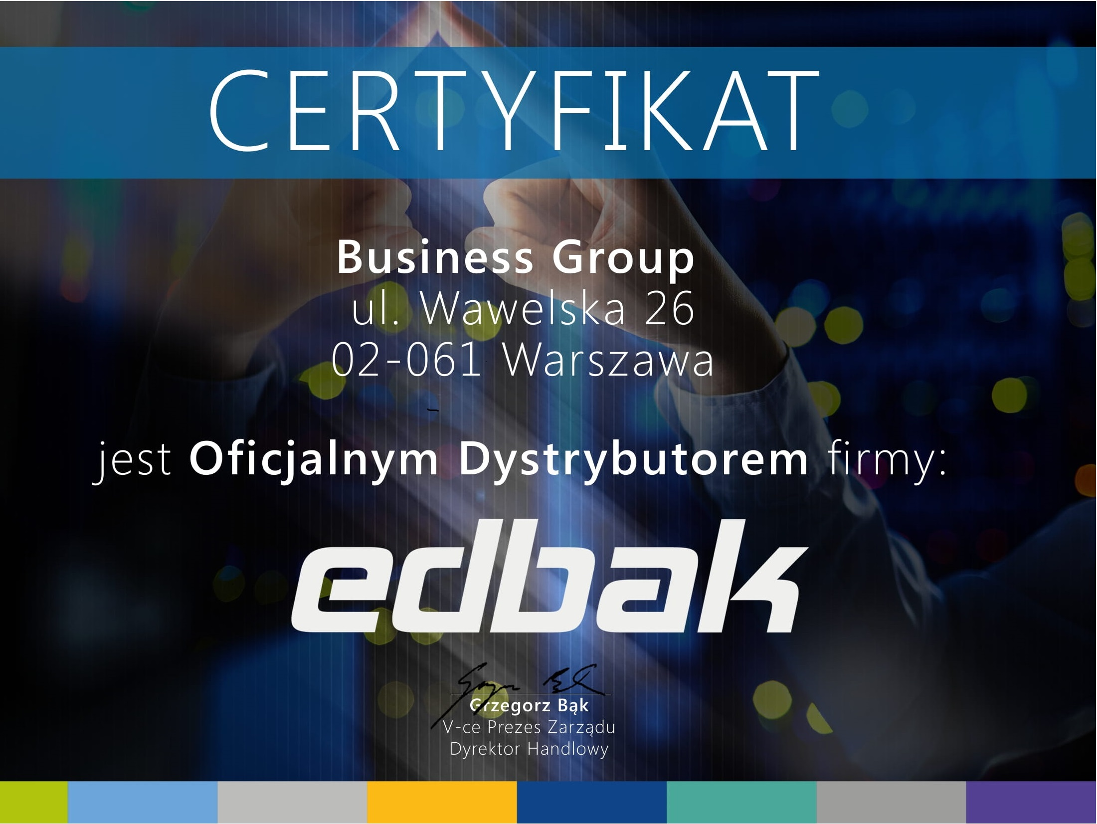 Certyfikat Edbak