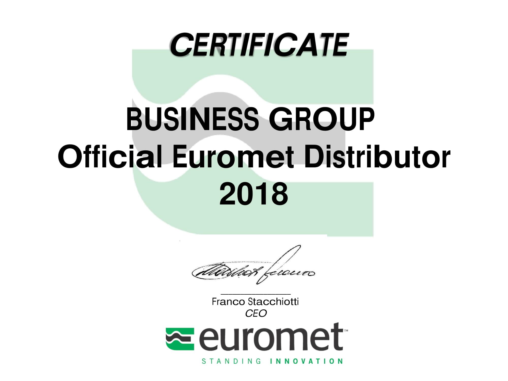 Certyfikat Euromet