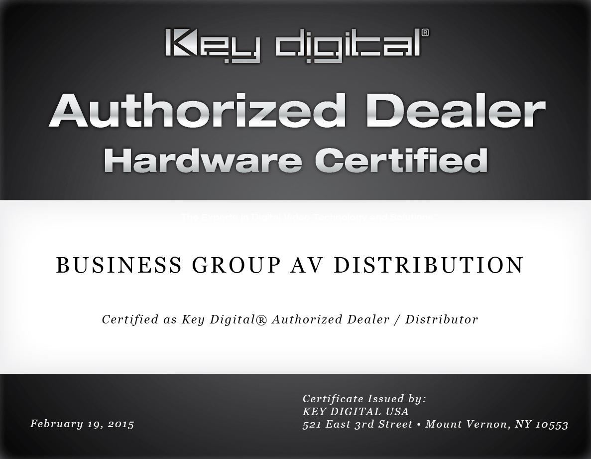 Certyfikat Key Digital
